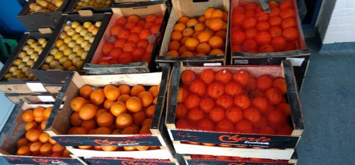 Veel pruimen en sinaasappels